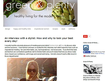 Style by Deco interview with blog Green and Plenty image